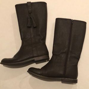 Girls Gap faux leather tall boots